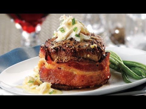 Bacon Wrapped Filet Mignon with Crab Sauce   Price Chopper Cooking How-To