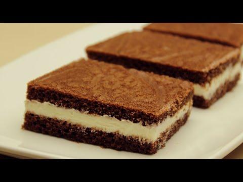 Receta de pastel esponjoso con crema - Kinder Milk Slice