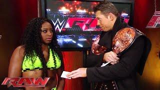 The Miz has a few words for Naomi: Raw, December 1, 2014