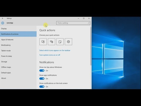 Disable System Icons, Messages, & Notifications - Windows 10, 8, 7