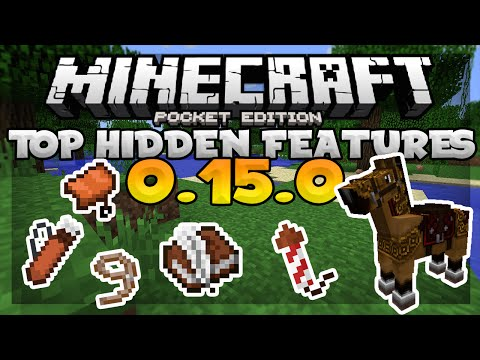 TOP HIDDEN FEATURES in MCPE 0.15.0!!! - Super SECRET Items - Minecraft PE 0.15.0