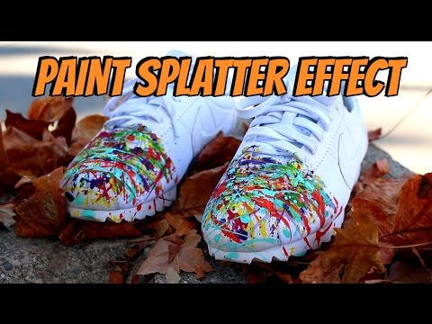How to Paint Splatter Sneakers !!