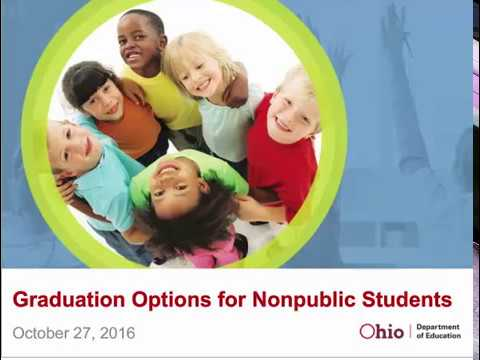 Graduation options for chartered nonpublic high school students (10/27/2016)