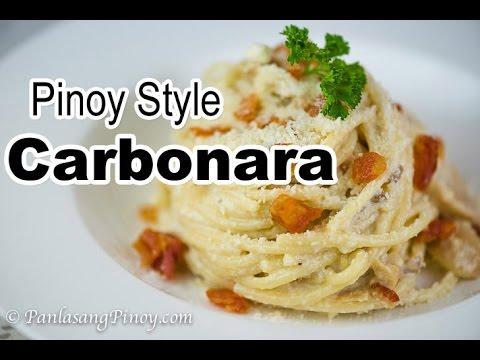 Pinoy Style Carbonara