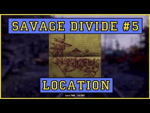 Fallout 76 | Savage Divide Treasure Map #5 LOCATON!