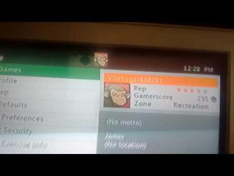 My Xbox 360 gamertag