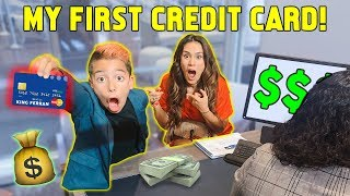 GIVING OUR SON HIS OWN CREDIT CARD! *FINALLY*   The Royalty Family