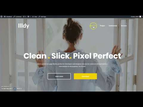 How to setup menu and sections in illdy WordPress theme