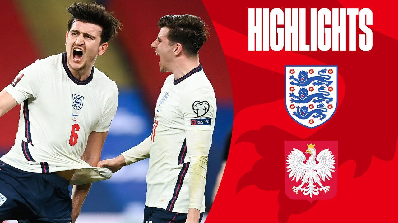 England 2-1 Poland | Maguire Volleys In Late Winner! | World Cup 2022 Qualifiers | Highlights
