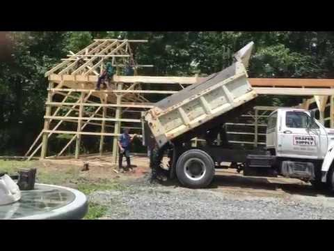 New 30x40 pole barn time lapse