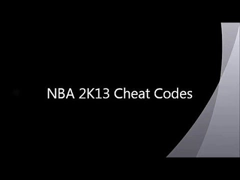 NBA 2K13 New Cheat Codes