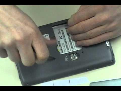 nook Black & White eReader Repair   Removing The Back Frame