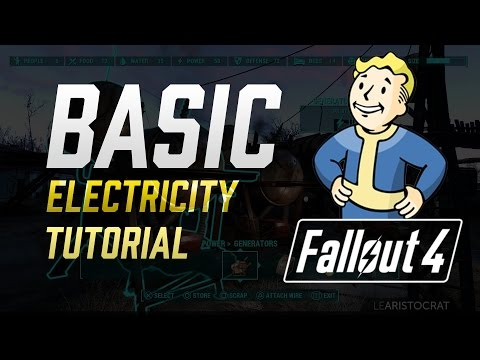 Fallout 4: Electricity Basics Tutorial - How To Wire, Lights, Turrets & More!