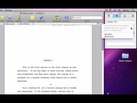 Storyist for Mac: Adding an Outline Level to Your Manuscript
