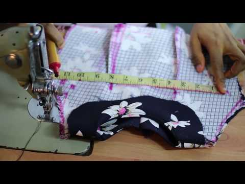 How To Cut & Sew Flared Dress   Part 2 {Sewing }