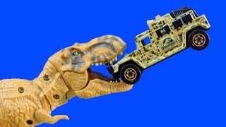 Jurassic Park Jurassic World Matchbox Set With Tyrannosaurus Rex Lockdown Dinosaur Set