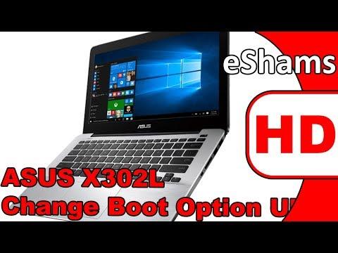 ASUS X302L Change Boot Option UEFI To LEGACY