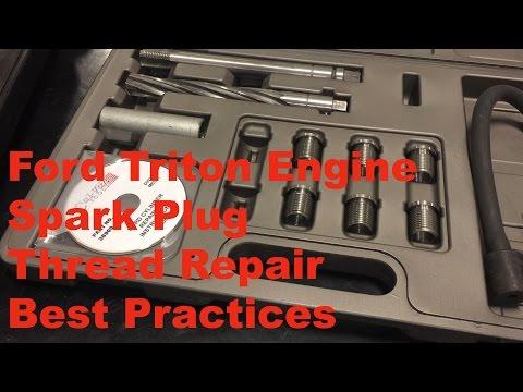 Repair A Blown Out Spark Plug Ford 4.6 5.4 6.8 Triton Engine