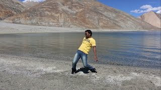 C2C Down to Pangong Lake at Himalayan Ranges