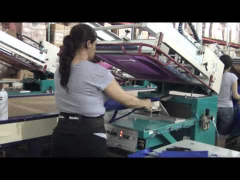 Printing Tote Bags using Discount Screen Supplies Ink!