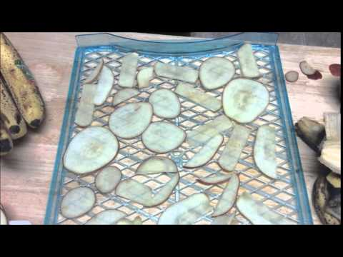 Dehydrated apples and bananas