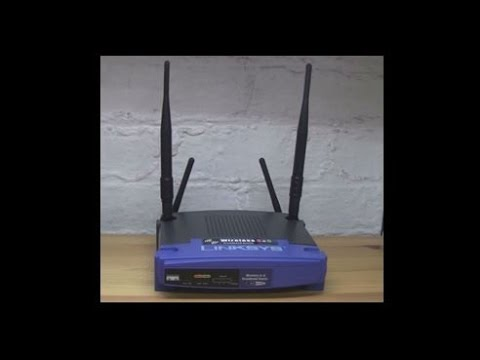 Linksys wrt55ag router modification