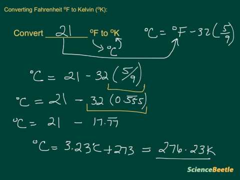 Converting Fahrenheit to Kelvin
