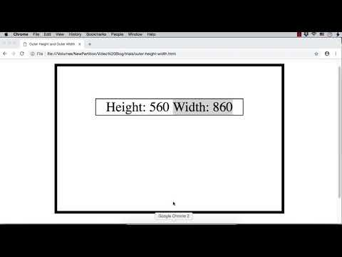 jQuery: outerHeight and outerWidth to Get/Set the Size of an Element