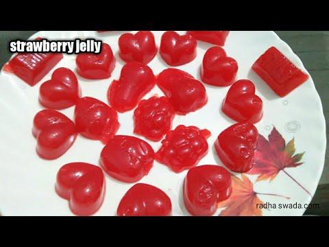 Strawberry jelly!!strawberry jam!!kids favourite recipe!! strawberry jam recipe!!China grass recipe!