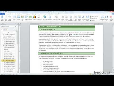 Microsoft Word tutorial: Using the Bookmark feature | lynda.com