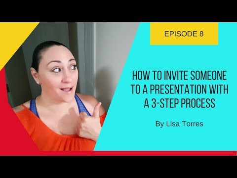 How To Invite Someone To A Presentation With A 3-Step Process