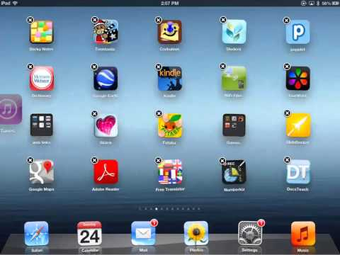 Moving Apps and Making Folders on the iPad