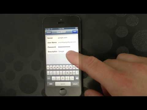 Set Up Google Contacts on iPhone 5