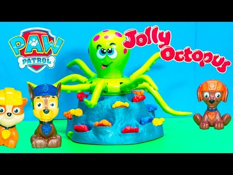 playing the JOLLY OCTOPUS Game With  Patrol and Doc McStuffinsToys