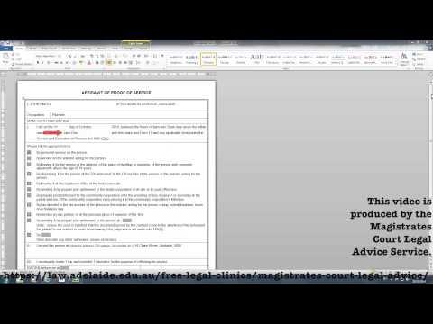 Affidavit Proof of Service- Serving Documents