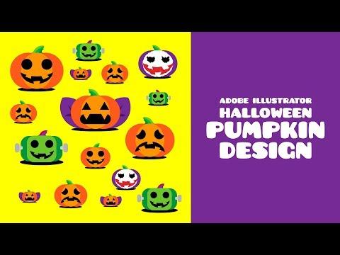 Adobe illustrator tutorial | HALLOWEEN PUMPKIN design