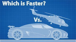 Fastest Car vs. Fastest Helicopter - Which is Faster?