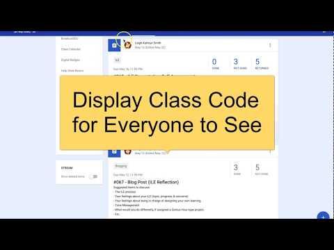 Classroom Class Code