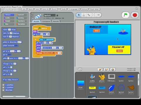 Scratch Tutorial Pokemon Battle P2