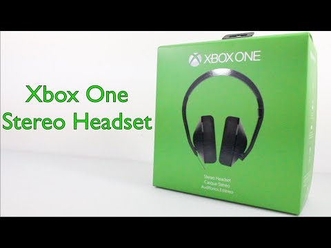 Xbox One Stereo Headset Unboxing