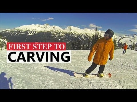 First Step to Carving on a Snowboard