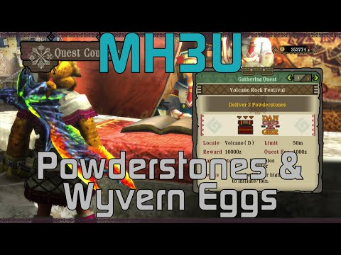[MH3U] Monster Hunter 3 Ultimate Tutorials - Delivering Powderstone and Wyvern Eggs