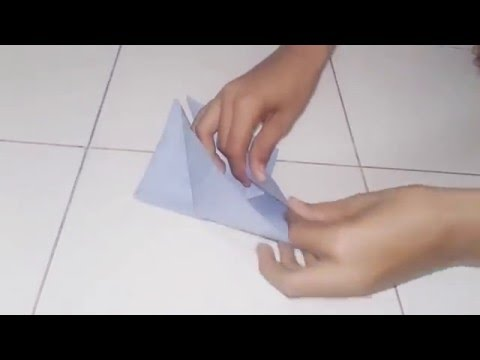 How to make origami flappy bird easy