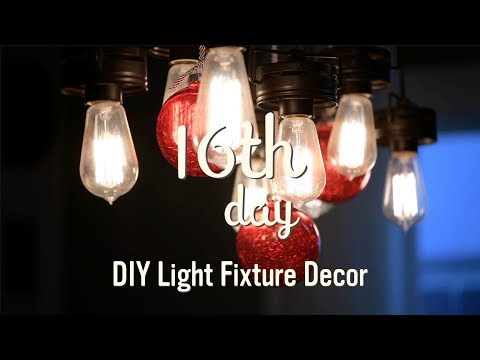 Christmas Decorations 2017 | DIY Christmas Light Fixture | 16