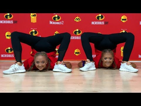 Contortion challenge inspired by Elastigirl from Incredibles 2