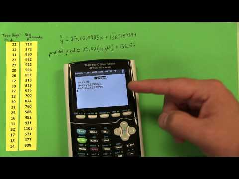 TI-84 Plus C - Scatterplots, Regression Equations, & Residuals