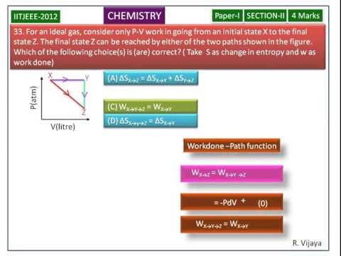 Thermodynamics-IIT-JEE Exam-2012(Paper-1)