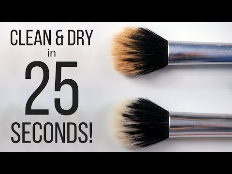 HOW I CLEAN & DRY MY MAKEUP BRUSHES IN 25 SECONDS