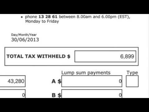 E-tax 2013 Tutorial 2: Entering Your Salary and Wages and Completing The Income Tests