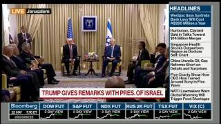 Trump telling Israelis in Jerusalem that he just